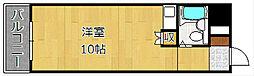 ホワイトパレス黄金[6階]の間取り