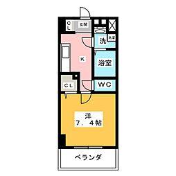 ウェルシー亀島[2階]の間取り