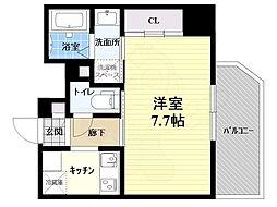 阪急宝塚本線 池田駅 徒歩8分の賃貸マンション 7階1Kの間取り
