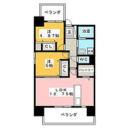 カサ・セグーラ田町[12階]の間取り