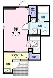 埼玉県新座市東3丁目の賃貸アパートの間取り