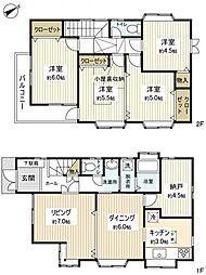 [一戸建] 千葉県船橋市西習志野3丁目 の賃貸【/】の間取り