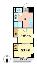 レジデンスカープ名古屋[7階]の間取り