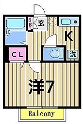 Heim M3[1階]の間取り