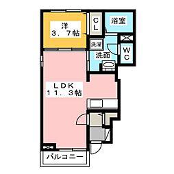 静岡県静岡市駿河区用宗1丁目の賃貸アパートの間取り
