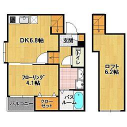 ポラリス 南福岡[1階]の間取り