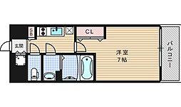 ファーストステージ江戸堀パークサイド[202号室]の間取り