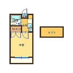 アリス深谷3号館[1階]の間取り