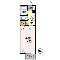 神奈川県相模原市緑区相原1丁目の賃貸アパートの間取り