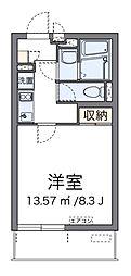 西武新宿線 新所沢駅 徒歩11分の賃貸マンション 1階1Kの間取り