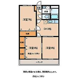 長野県飯田市毛賀の賃貸マンションの間取り