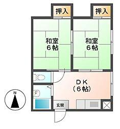 小島ビル[6階]の間取り