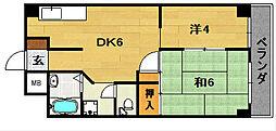 大阪府茨木市宇野辺1丁目の賃貸マンションの間取り