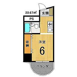 プレジールマンション[207号室]の間取り