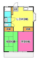 埼玉県所沢市東新井町の賃貸アパートの間取り