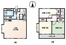 [テラスハウス] 神奈川県大和市下鶴間 の賃貸【/】の間取り