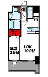 ビリーヴルーム 6階1LDKの間取り
