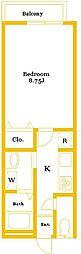 ノースパークフロント三枝[2階]の間取り
