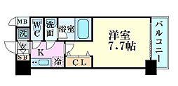 JR大阪環状線 福島駅 徒歩5分の賃貸マンション 14階1Kの間取り