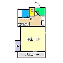 ハーモナイズかもべ[2階]の間取り