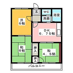 青島ハイツ[2階]の間取り