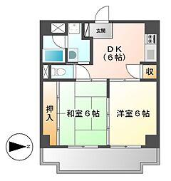 パティオ新栄[6階]の間取り