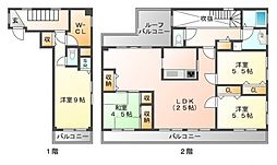 プラネット江坂[4階]の間取り