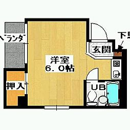 細川アパートメント[302号室]の間取り