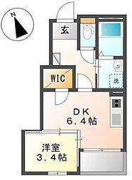 仮称)中田南2丁目アパート新築[1階]の間取り