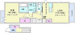 仙台市地下鉄東西線 青葉山駅 徒歩31分の賃貸アパート 2階1LDKの間取り