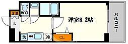 プレサンス心斎橋ソレイユ 6階1Kの間取り