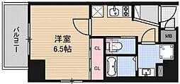 アドバンス西梅田ジェイス 7階1Kの間取り