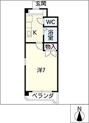 レスポワール清水ケ岡[1階]の間取り