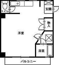 シティハウス京塚[1R号室]の間取り