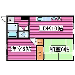 北海道札幌市北区篠路三条3丁目の賃貸アパートの間取り