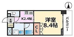 ベルファース尼崎[514号室号室]の間取り