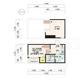 名古屋市営名城線 矢場町駅 徒歩6分の賃貸アパート 2階1Kの間取り