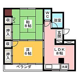 梅田ハイツ[5階]の間取り