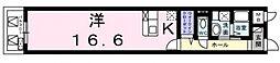 LN南河堀[402号室号室]の間取り