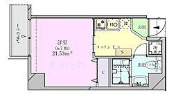 ビットビル壺屋 3階1Kの間取り