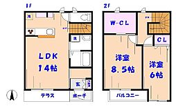 [テラスハウス] 千葉県市川市真間3丁目 の賃貸【/】の間取り