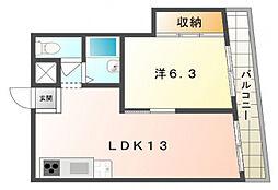 白樺ハイツ長栄寺[3階]の間取り