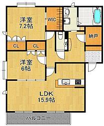 DAIKENN武庫之荘[E201号室]の間取り