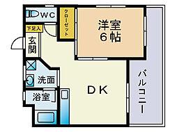 シャトル大手門[6階]の間取り