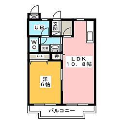 シャトー富ヶ丘II[2階]の間取り