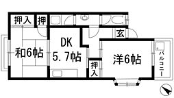 ホープ小野垣[2階]の間取り