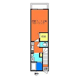 石川台レジデンス[2階]の間取り