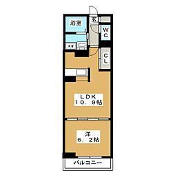 プロムナードIV[3階]の間取り