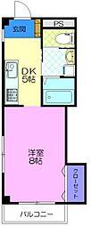 T-ハウス 3階1DKの間取り