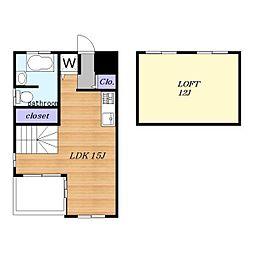 Timber Apartment[208号室]の間取り